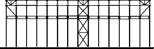 Схема вертикальных связей колонн и ферм