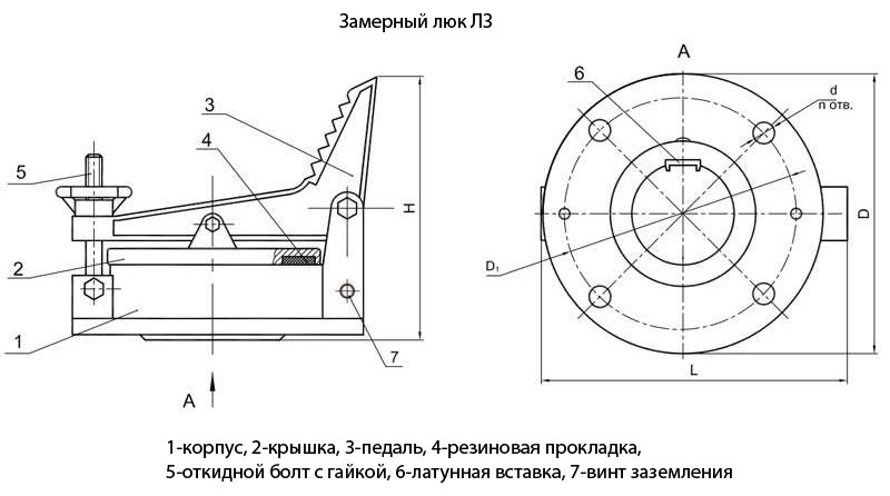 ЛЗ-150 УХЛ Люк замерной