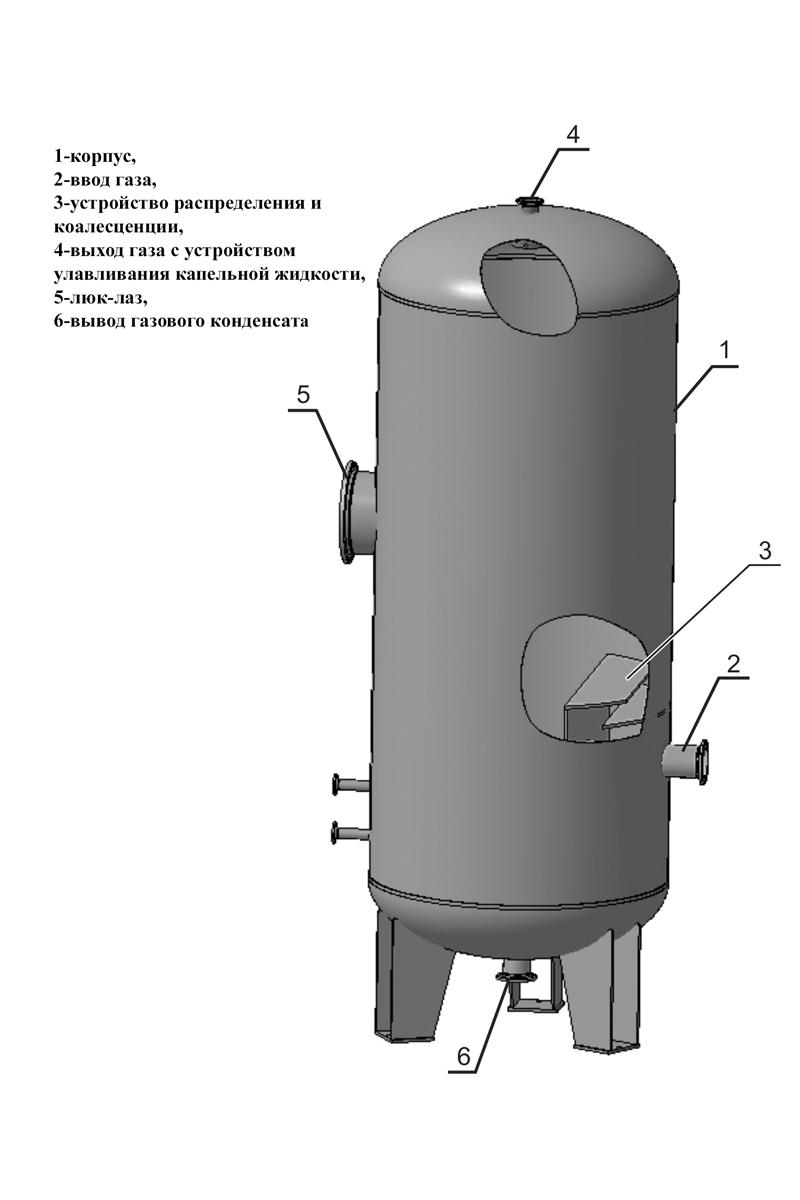 фильтр газовый сварной схема