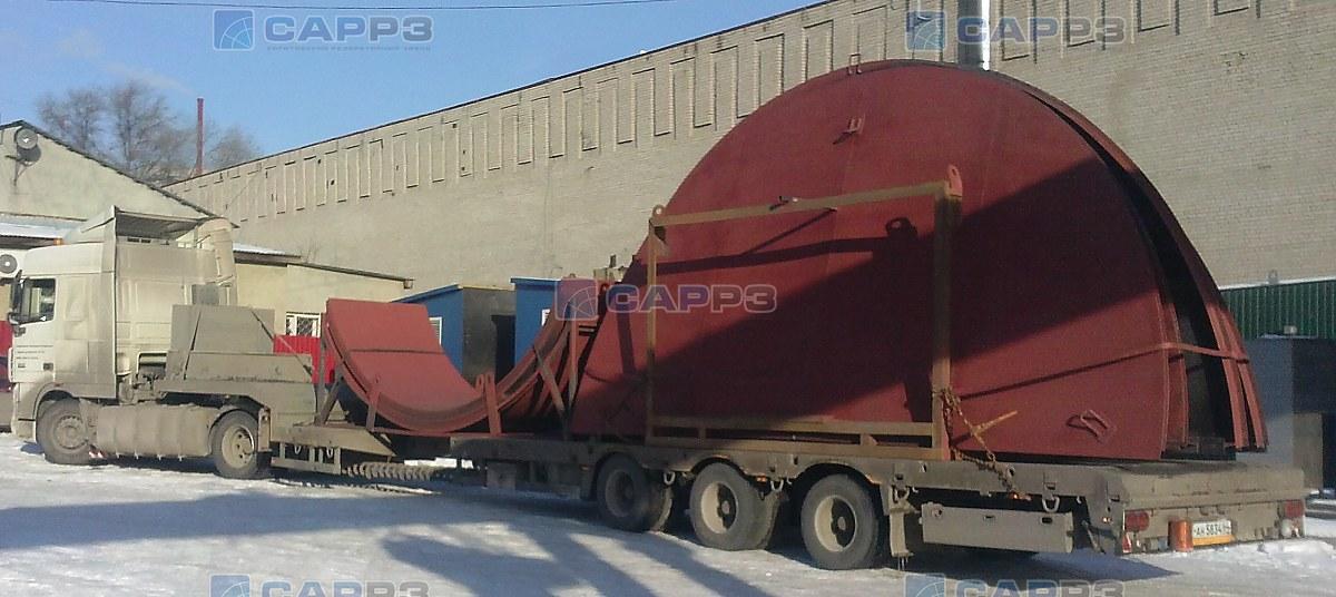 Отгрузка металлоконструкций РВС-200 м3