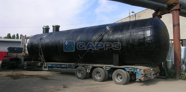 Отгрузка сосуда для сжиженного газа объемом 50 м3