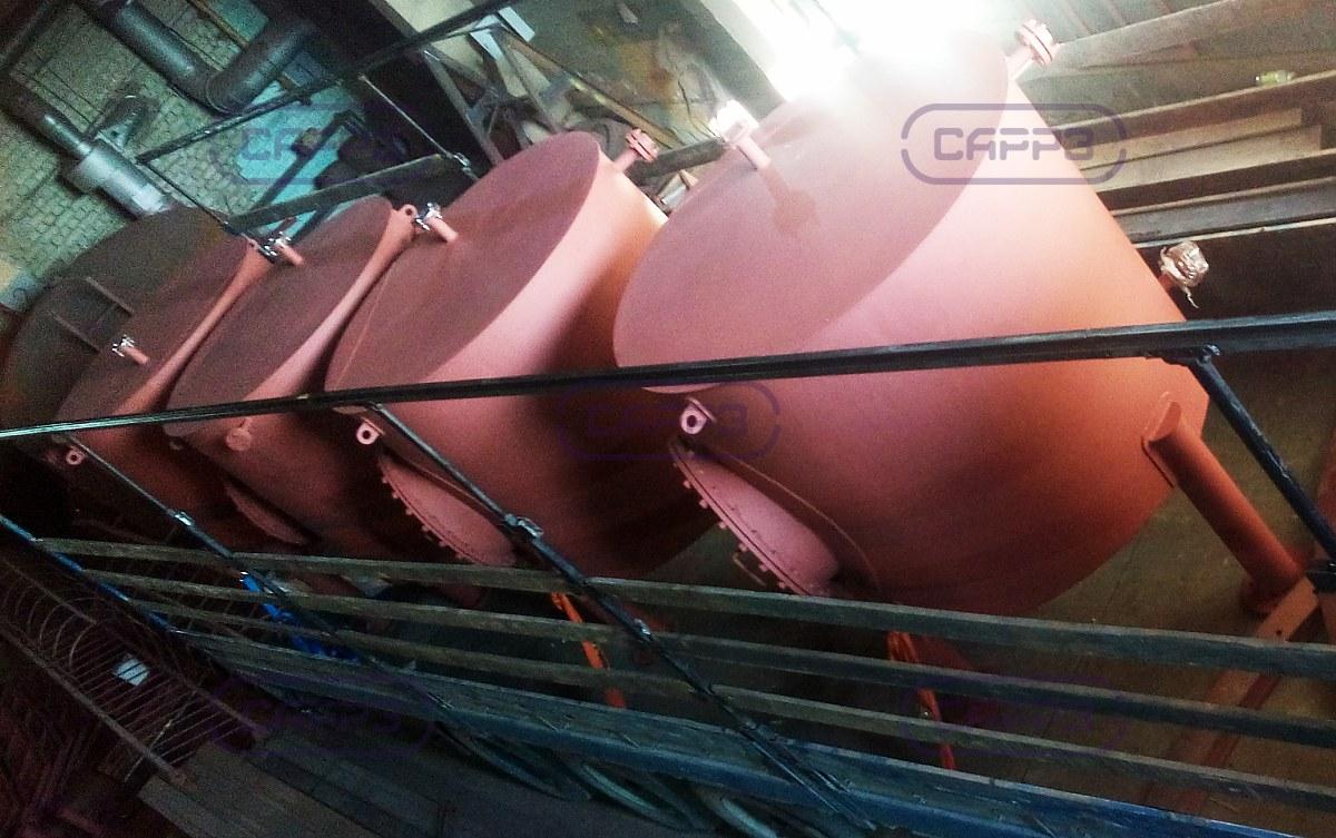 Отгрузка вертикальных резервуаров с коническими днищами РВСк-2 м3