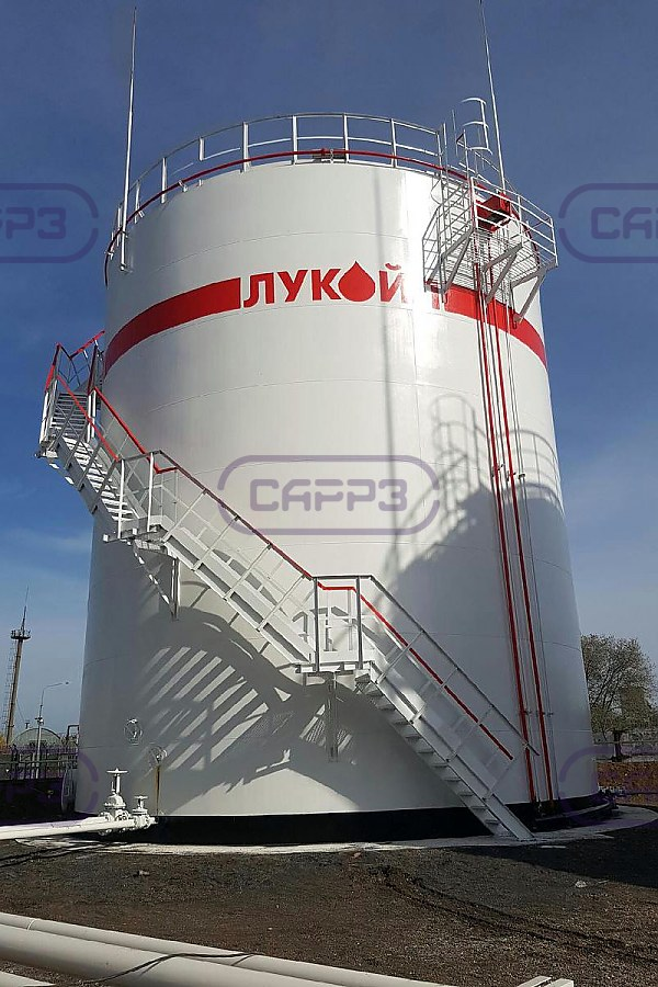 РВС-1000 нашего производства на нефтебазе в Оренбурге
