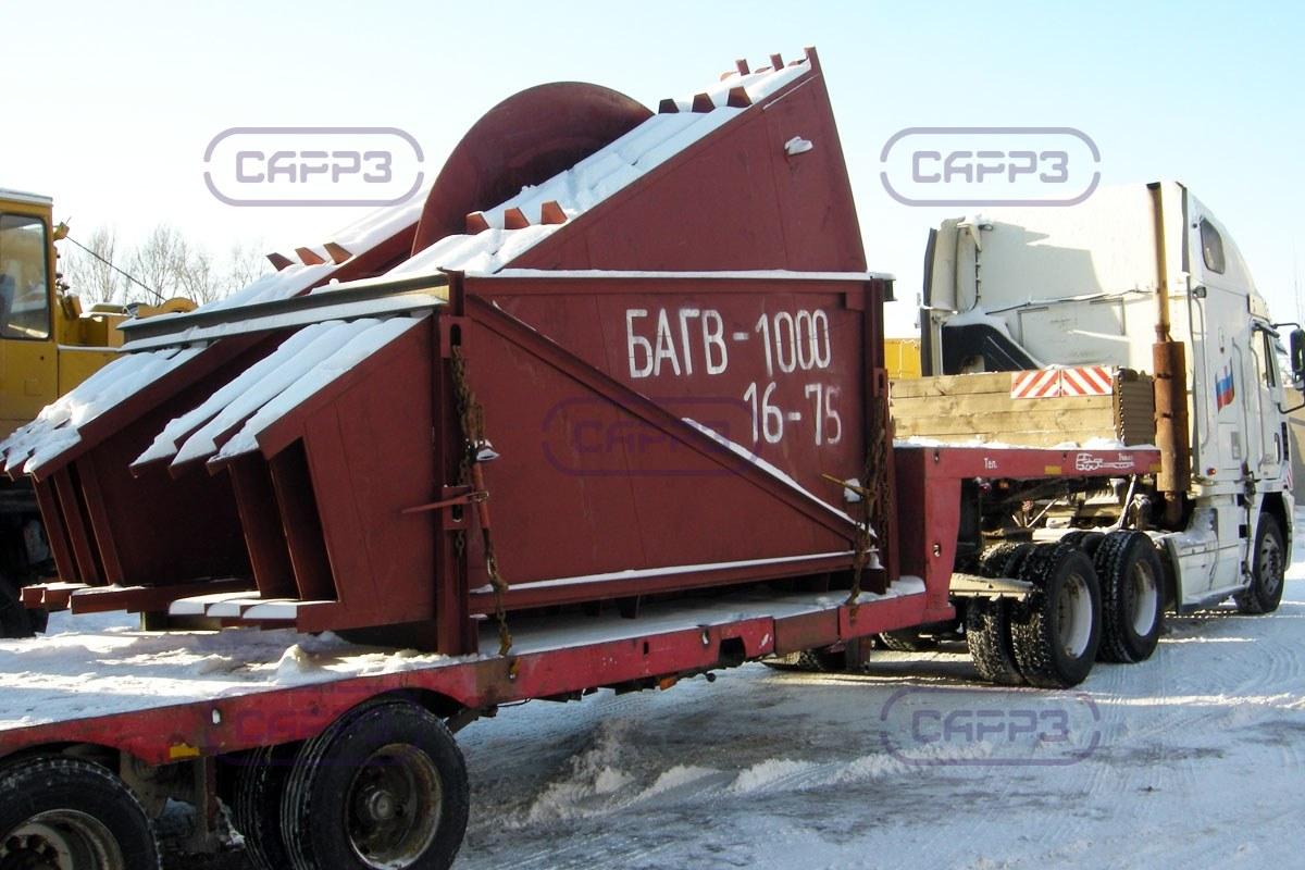 Отгрузка БАГВ-1000 в Череповец