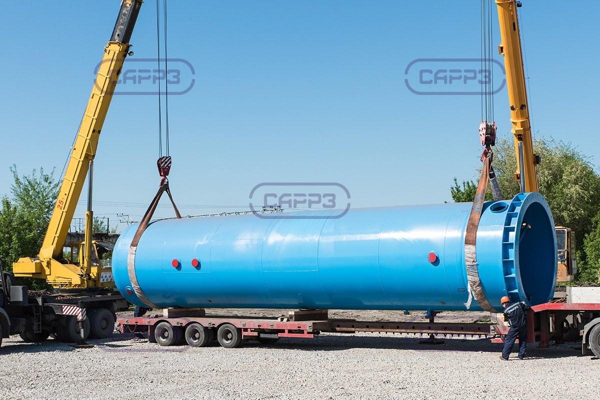 Отгрузка ресивера азота объемом 100 м3