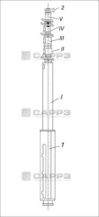 Схема ствола телескопической